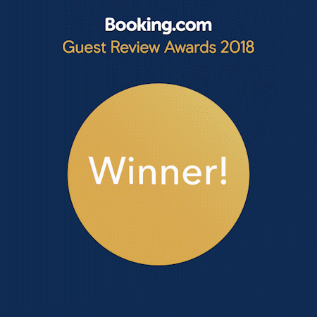 Guest review Award from Booking.com